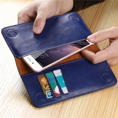 Floveme Universal 5.5 Inch Wallet Card Phone Case Cover For Xiaomi Huawei Samsung IPhone