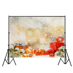 7x5ft Vinyl Christmas Gift Photography Backdrop Photo Studio Props Background