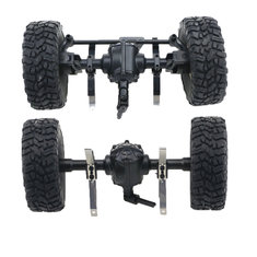 JJRC Q61 4WD Front And Rear Bridge Axle Set For 1/16 Military Truck Rc Car Blue Wheel