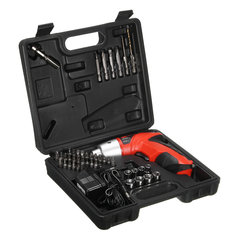 Raitool 45 in 1 LED Electric Screwdriver Cordless Power Drill Set Electric Drill Driver Tool EU