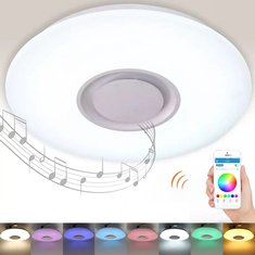 Led ceiling lights shop best led ceiling lamps with wholesle price 36w round rgb smart dimmable led ceiling light bluetooth music app control panel lamp ac85 aloadofball Image collections