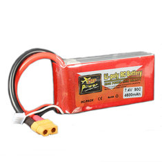 ZOP Power 7.4V 4600MAH 2S 90C Lipo Battery XT60 Plug