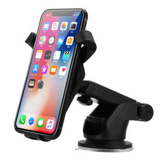 Bakeey Qi Wireless Car Charger Air Vent Holder With Suction Cup For iPhone X 8Plus Samsung S8 Note 8
