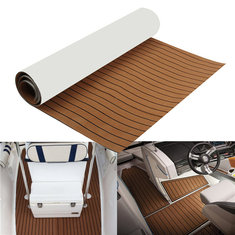 2400x1200x6mm EVA Foam Brown Faux Teak Boat Flooring Decking Sheet Pad