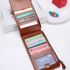 Women Men Waxy Ultra Thin Leather Long Purse Elegant Card Multi Holder Phone Bags Coin Bags