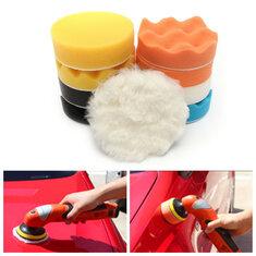 11pcs 4inch Car Sponge Polishing Tool Set Waxing Buffing Cleaning Wash Pad Kit