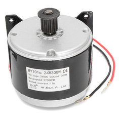 24V 17A 300W 2750RPM Brushed Electric Motor For E Bike Scooter