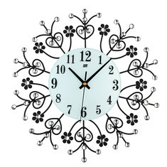13.39 Inch 3D Wall Clock Diamond Jewellery Modern Silver Silent Movement For Home Office Decor Gift