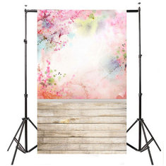 5x7FT Watercolor Pink Flower Floor Photography Backdrop Photo Background Props