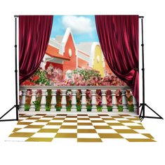 3x5ft Children House Fence Photography Background Backdrop Studio Prop
