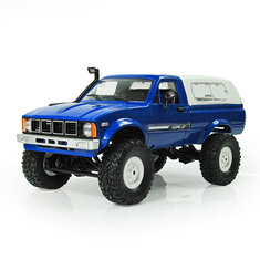 WPL C24 1/16 Kit 4WD 2.4G Military Truck Buggy Crawler Off Road RC Car 2CH Toy