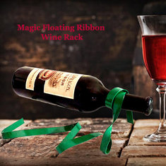 Magic Floating Ribbon Wine Rack Wine Holder Bottle Hanging