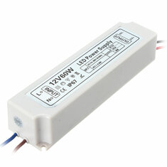IP67 60W AC100-264V To DC12V Switching Power Supply Driver Adapter for LED