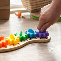 Kids Colorful Gear Caterpillar Toy Children Wooden Puzzle Twisting Educational Toys