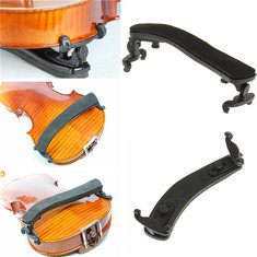 Soft Violin Shoulder Rest Adjustable Black Support For Violin 1/2 2/4