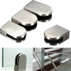 6-12mm Stainless Steel Glass Clamp Bracket Holder for Window Balustrade Handrail