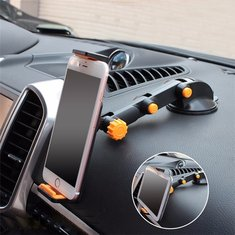 2-in-1 360° Scalable Car Dashboard Sucker Mount Holder Stand For Smartphone Tablet PC Navigator