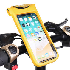 Universal Waterproof Screen Touch Foldable Bike Bicycle Handlebar Phone Bag for iPhone Cell Phone
