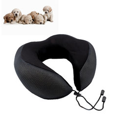 Inflatable Travel Pillow Lightweight Contains Compact Button for Travel Office