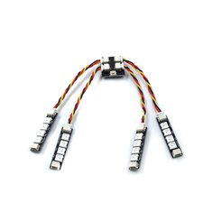 4PCS GEPRC WS2812 LED Light Strip 8 Color Switchable With 2-6S LED Controller Board For RC Drone