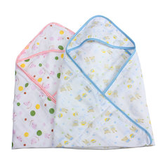 Small Baby Swaddler Cotton Wrap Blanket Infant Hooded Parisarc Diapers Envelope Bath Towel Cocoon Sleeping Bag