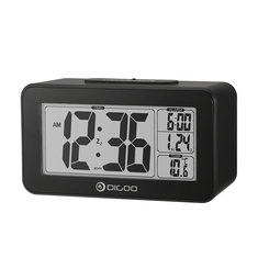 Digoo DG-C4 Digital Sensitive White Backlit LCD Thermometer Desk Alarm Clock Dual Alarm With Snooze