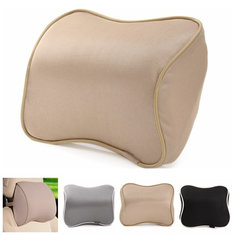 Memory Foam Silk Head Rest Pillow Car Seat Neck Support Cushion Universal