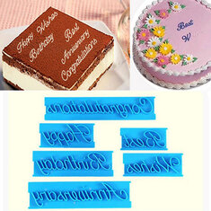 Happy Birthday Letters Cake Cutter Embosser Fondant Biscuit Cookie Baking Molds