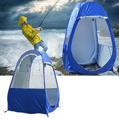 Outdoor Camping Pop-up Tent 2 Doors Portable Toilet Shower Room Beach Fishing Shelter