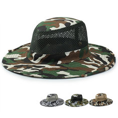 e413a712d7cbf Unisex Camouflage UV protection With String Bucket Hat
