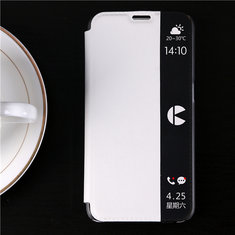 YIKADENG Side Window Smart View Flip PU Leather Case Cover For Samsung  Galaxy A7