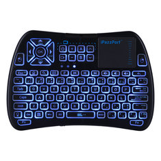 Ipazzport KP-810-61 Three Color Backlit 2.4G Wireless Mini Keyboard Touchpad Airmouse