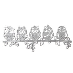 Owls Pattern Set Scrapbooking DIY Photo Album Card Paper Art Craft Maker Metal Cutting Dies