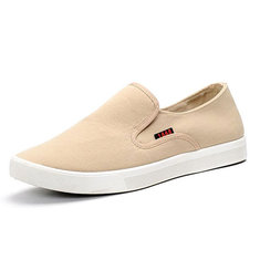 Men Breathable Canvas Casual Slip On Loafers Flats