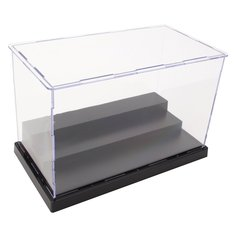 22cm L Acrylic Display Box Perspex Case Plastic Base 3 Steps Dustproof For Action Figure
