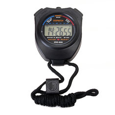 Chronograph Digital Timer Stopwatch Counter Wristwatch