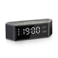 Tsumbay Multi-functional Wireless Bluetooth Speaker with Alarm Clock Radio Digital FM Radio