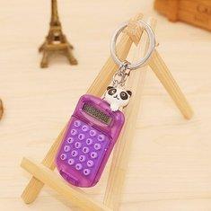 ... Mini Kalkulator Elektronik Keychain Nyaman Membawa Alat Akun Gantungan Kunci