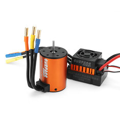 Surpass Hobby Waterproof 3650 3100KV Brushless Motor +45A ESC Combo Set for 1/8 Rc Car Parts