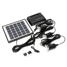 4W 6V Solar Panel + 3x LED Light USB Charger + Power Bank Home Garden System Kit - 4W-6V-Solar-Panel-3x-LED-Light-USB-Charger-Power-Bank-Home-Garden-System-Kit , 4W 6V Solar Panel + 3x LED Light USB Charger + Power Bank Home Garden System Kit , banggood.com