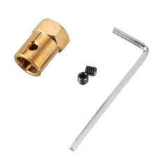 1pc Coupling 6 to 11mm Shaft Alloy With Hex Wrench+Screws Motor Coupler Connector RC Boat Parts
