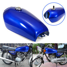 9L 2.4 Gallon Motorcycle Cafe Racer Fuel Gas Tank with Petrol Cap Key For Honda CG125
