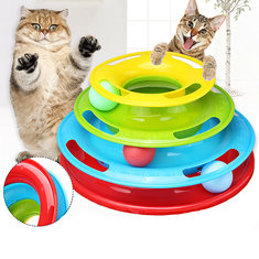 3-Level Tracks Pet Toys Dog Interactive Colorful Ball Disk Game Training Toy