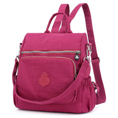 979eb88b9678 Women Multi-carry Nylon Solid Waterproof Casual Satchel
