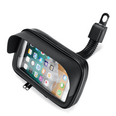 Waterproof Cell Phone Holder Bag Motorcycle Bike GPS Bicycle Mirrors Installation Case