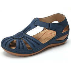 1c9639e13 LOSTISY Women Wedges Shoes Splicing Casual Comfy Sandals