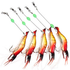 ZANLURE 5pcs 80mm Soft Plastic Fishing Bait Prawn Shrimp Fishing Lure Tackle