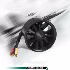 FMS 50mm 11 Blades Ducted Fan EDF With 2627 KV4500 KV5400 3S 4S Brushless Motor