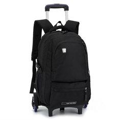 27L High Feet Detachable Trolley Backpack Student School Bags Luggage Men Kids Boys
