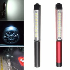 New 9 LED Magnetic Pocket Pen Torch Work Inspection Light Flash Lamp